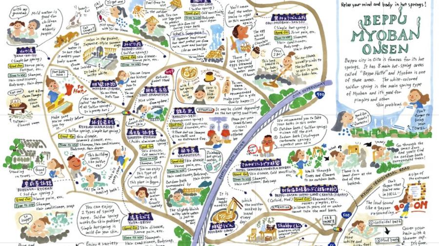 観光の定番温泉巡りがイラストマップで何倍も楽しくなるstroly Blog